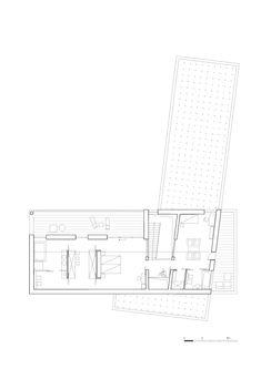 Concrete and Cedar Lath Villa,First Floor Plan