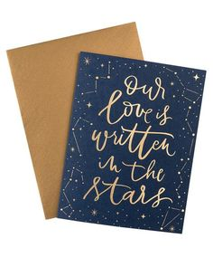 Knot & Bow Our Love Is Written In The Stars Foil Card