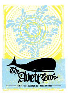 the avett brothers | concert poster