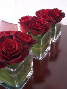 simple red rose arrangement - Google Search