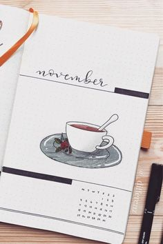 Looking to a new theme idea to try out this month? Check out these awesome coffee bullet journal spreads for inspiration to make your layouts perfect! Bullet Journal Cover Ideas, Bullet Journal Spread, Bullet Journal Month, Bullet Journal Writing, Bullet Journal Aesthetic, Bullet Journal Ideas Pages, Journal Covers, Bullet Journal Inspiration, Bullet Journals