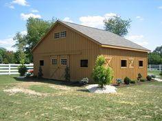 Your horses would love you.  http://www.woodtex.com/barns-and-run-in-sheds.asp