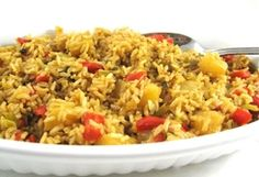 Simple to Make and Very Healthy, Pineapple Brown Rice :: Recipe Kitchen