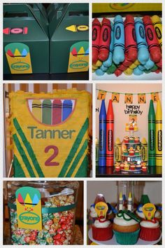 Crayola crayon birthday party - Follow this blog on Our Mom Rocks https://www.facebook.com/ourmomrocks/  and at www.OurMomRocks.com