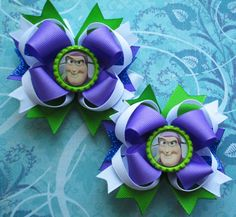 Buzz lighteryear hair bow Toy story hair bow disney hair bow headband over the top boutique hair bow