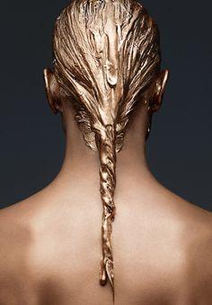 PERSEPHONE Model - Crista Cober Photographer - Miguel Reveriego Fashion Editor - Ada Kokosar Hair - Peter Gray Makeup - Ozzy Salvatierra