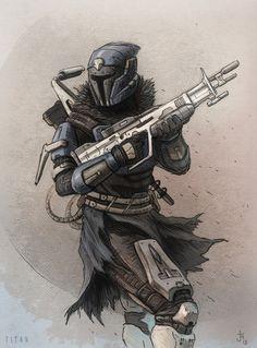 Destiny Sketch Card: Titan by LeviWasTaken on DeviantArt
