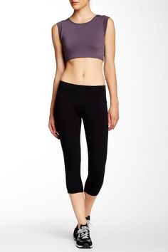 Crop Pant by Solow on Gym Essentials, Yoga Wear, Cropped Pants, Nordstrom Rack, Sportswear, Polyvore, How To Wear, Stuff To Buy, Shopping