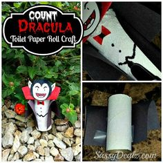DIY: Count Dracula Vampire Toilet Paper Roll Craft For Kids