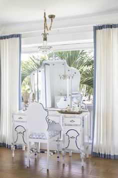 Carriage Hill Master Bedroom Dressing Area With Antique Vanity