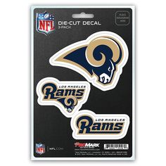 los angeles rams set of 3 die cut decal stickers new