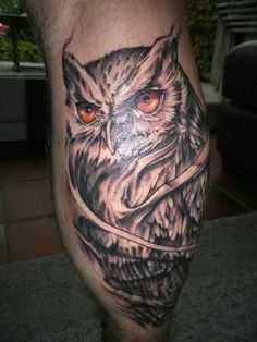 Owl tattoo! Polak's Finest Beef Shop, Ghent Belgium
