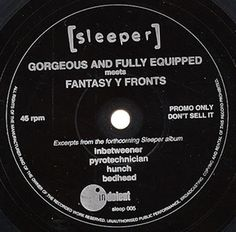 """For Sale - Sleeper Gorgeous And Fully Equipped - Flexi UK Promo  7"""" vinyl single (7 inch record) - See this and 250,000 other rare & vintage vinyl records, singles, LPs & CDs at http://eil.com"""