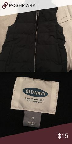 Black puffer vest Nice long black puffer vest from Old Navy. Size medium worn once. Too small for me. Old Navy Jackets & Coats Puffers