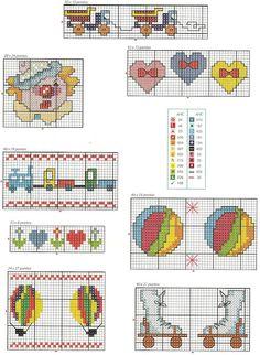 Tudo em ponto cruz, gráficos novos toda semana!!!!!!!: Vários temas para deixar o quartinho do bebê mais ...