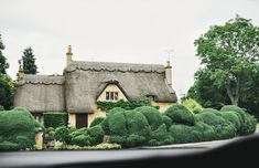 Oh thatched roof cottages...love them. The Cotswolds, England