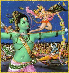 Ram Hanuman with sanjivani Parvat Indian Gods, Indian Art, Ram Hanuman, Amai, God Pictures, Hindu Art, Sacred Art, Tantra, Gods And Goddesses