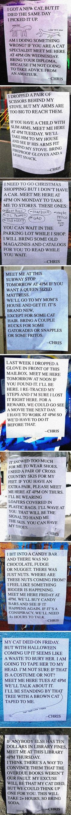 Pretty Sure I'd Like To Meet This Chris Guy