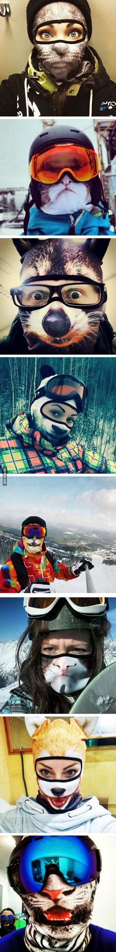 Animal Ski Masks By Teya Salat - 9GAG