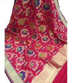 Silk Dupatta, Silk Sarees, Buy Sarees Online, Boutiques, Shawls, Alexander Mcqueen Scarf, Cloths, Pure Products, Link