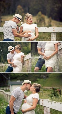 Couple's Maternity Photos  ((the top one is my fav. it looks like he's waiting to feel a kick <3 ))