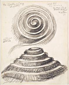 Robert Smithson,Spiral Hill viewing Broken Circle More...
