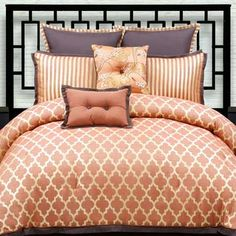 Even the color orange can be transformed into a dainty, chic bedding ensemble!