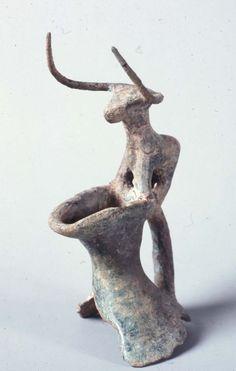 Neck of vessel with bull figure on rim   Museum of Fine Arts, Boston