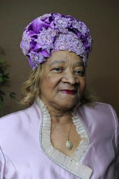 "Wearing a mauve satin crown with rosettes, Annie Scott Moye, a 75-year old lifelong Baptist who has worn church crowns (hats) since she was 21 says, ""The crown is the finishing touch. When you put the crown on, you're completely dressed."" She says you can't Thurday, September 24, 2009. Photo: VALENTINO MAURICIO"