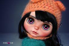 Juno Blythe custom art ooak doll and diorama by JevrieslovesJodie