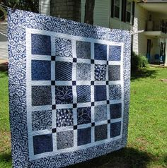 black and white quilt w cute back