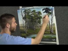 Paint with Kevin Hill - Quiet Birch Trees - YouTube