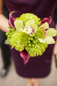 Purple and Green Bridesmaid Bouquet Beach Wedding Bouquets, Fall Wedding Flowers, Flower Bouquet Wedding, Bridesmaid Bouquet, Floral Wedding, Bouquet Flowers, Autumn Wedding, Bridal Bouquets, Bridesmaids