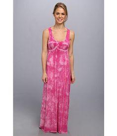Pink Lotus Seamed Maxi Dress w/ Twist Back