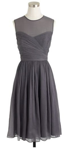 Beautiful bridesmaid dress in silk chiffon