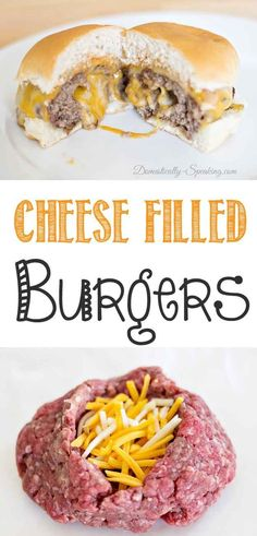 Filled Burgers with Barbeque Ranch Dressing You want to try this! Cheese Filled Burgers with Barbecue Ranch DressingYou want to try this! Cheese Filled Burgers with Barbecue Ranch Dressing I Love Food, Good Food, Yummy Food, Yummy Yummy, Great Recipes, Dinner Recipes, Favorite Recipes, Comida Diy, Beef Recipes