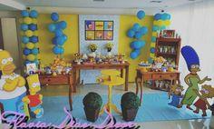Decoração Simpsons Festa do meu filho que fiz com muito carinho ♥ Por: Flavia Dias Decor