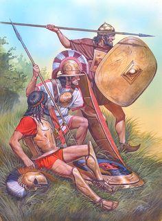 Etruscan warriors by Nicholas Subkov
