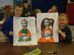 Art with Mrs. Seitz 3rd grade Mona Lisa Parodies