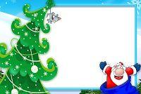 Moldura de Natal com fundo transparente - 2 Frames Png, Christmas Ornaments, Holiday Decor, Home Decor, Christmas Picture Frames, See Through, Molde, Pictures, Decoration Home
