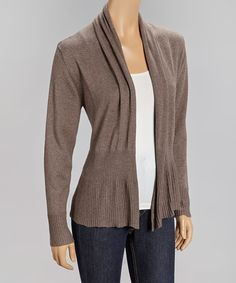 Cozy up in a long-sleeve cardigan that fabulously flaunts buttery softness with its perfect blend of cotton and cashmere. Funky Fashion, Fashion Beauty, That Look, Take That, S Curves, Soft Summer, Open Cardigan, Summer Wardrobe, Cashmere
