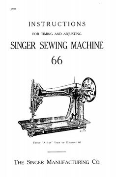Singer 66 Sewing Manual