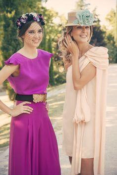 Dos Looks de boda perfectos . pantalon, top, vestido, corona y canotier ... todo de www.lamasmona.com