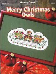 Merry Christmas Owls pattern