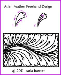 *Asian feather freehand design - Carla Barrett