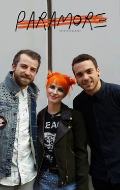 Hayley Williams Jeremy Davis Taylor York ~Paramore