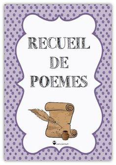 Organisation de la poésie en classe: recueil de poésies par thème, grille d'évaluation, sommaire, feuille d'inscription, mot cahier...