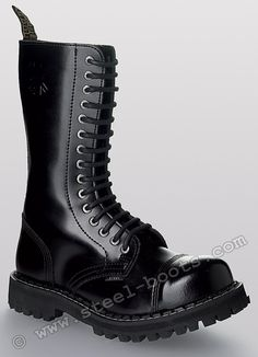 Steel shoes & boots - Black 15 hole steel toes