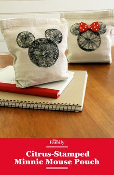 Go back to school in classic Minnie Mouse style with this DIY citrus-stamped Snack Pouch. Use an orange, some fabric paint, and our printable template to be the craftiest, chicest Disney fan of them all.