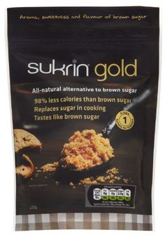 Sukrin Gold All Natural Low calorie sweetener alternative to Brown Sugar with 98% less calories than sugar (220g) Sukrin http://www.amazon.co.uk/dp/B00H02DZK8/ref=cm_sw_r_pi_dp_SQjvub086TD8M